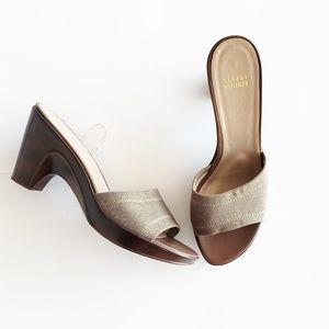 Stuart Weitzman Slip On Open Toe Heels